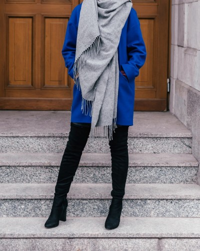 Wool coat - OXANA BLUE