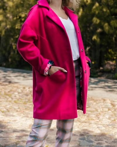 Wool coat - OXANA FUCHSIA