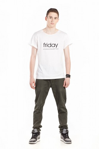 "Cotton t-shirt for him - ""FRIDAY IS MY SECOND FAVOURITE F WORD"""