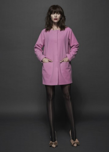 Wool coat -  ORDINARY PINK