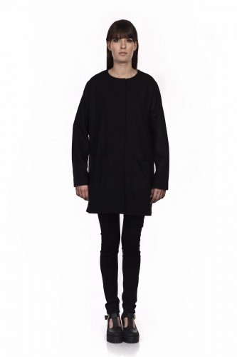 Wool coat - ORDINARY BLACK