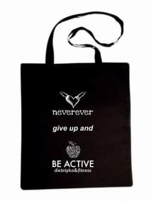 "Bag - ""NEVEREVER GIVE UP AND BE ACTIVE"""