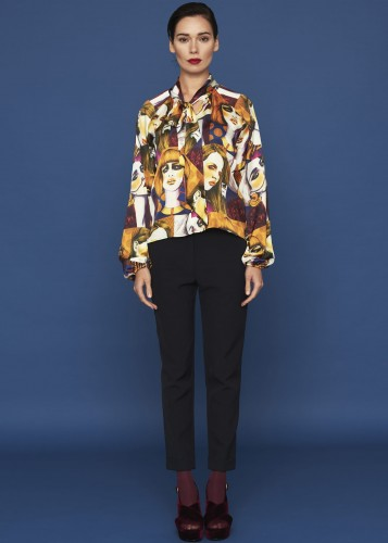 Silk shirt - DEEP AMBRA